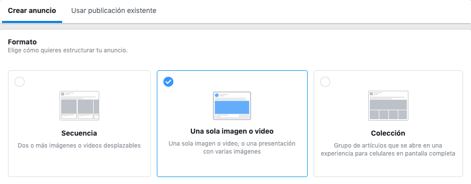 formatos anuncios facebook instagram ads
